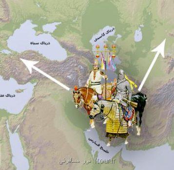 اسب های دوره ساسانی ایران نیاكان اسب های اروپا و آسیای مركزی اند