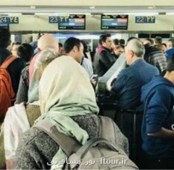 سفر خارجی ایرانیان ۲۴ درصد كمتر شد