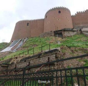 اختتام مرمت اضطراری لطمه های بیرونی قلعه فلك الافلاك