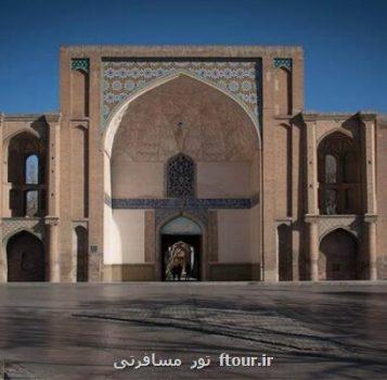 شروع فاز سوم کف سازی محوطه دولتخانه صفوی قزوین